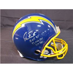 "Dan Fouts Signed Chargers Full-Size Authentic On-Field Helmet Inscribed ""43,040 Yds"", ""HOF '93""  ""25"
