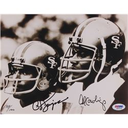 O. J. Simpson  Al Cowlings Signed LE 49ers 8x10 Photo (PSA COA)