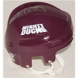 "Emilio Estevez Signed ""The Mighty Ducks"" Mini-Helmet (Schwartz COA)"