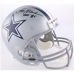 Roger Staubach Signed Cowboys Full-Size Helmet Inscribed  HOF '85  (Radtke COA)