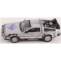 "Michael J. Fox Signed ""Back to the Future"" DeLorean 1:24 Diecast Car (JSA COA)"