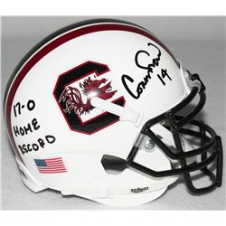 "Connor Shaw Signed South Carolina Mini-Helmet Inscribed ""17-0 Home Record"" (Radtke COA)"