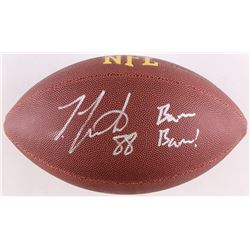 "Ty Montgomery Signed Football Inscribed ""Bam Bam!"" (Schwartz COA)"