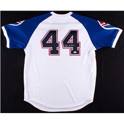Hank Aaron Signed 1974 Braves Throwback Jersey (JSA COA)