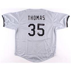 "Frank Thomas Signed White Sox Jersey Inscribed ""HOF 2014"" (Schwartz COA)"
