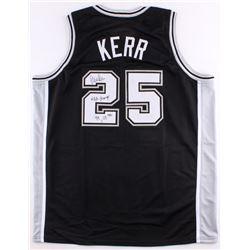 "Steve Kerr Signed Spurs Jersey Inscribed ""NBA Champs 99, 03"" (Schwartz COA)"