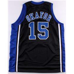Jahlil Okafor Signed Duke Blue Devils Jersey (Schwartz COA)