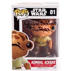 "Tim Rose Signed ""Admiral Ackbar"" Star Wars #81 Funko Pop! Vinyl Figure Inscribed ""Admiral Ackbar"" (P"