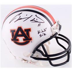 "Chris Davis Jr. Signed Auburn Mini-Helmet Inscribed ""Kick Six"" (Radtke COA)"