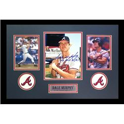 Dale Murphy Signed Braves 16x26 Custom Framed Photo Display Inscribed  NL MVP 82, 83  (Radtke COA)