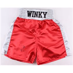 "Winky Wright Signed Custom ""Winky"" Boxing Trunks (JSA COA)"