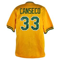 "Jose Canseco Signed Athletics Jersey Inscribed ""89 WSC"" (Beckett COA)"