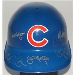 2016 Cubs Coaching Staff Full-Size Replica Batting Helmet Signed by (6) with John Mallee, Dave Marti