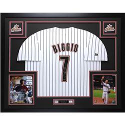 "Craig Biggio Signed Astros 35"" x 43"" Custom Framed Jersey (TriStar Hologram)"