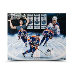 Paul Coffey Signed Oilers 16x20 Photo (UDA COA)