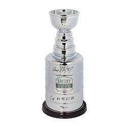 """Wayne Gretzky Signed Stanley Cup Replica Trophy Inscribed """"Cup 84 85 87 88"""" (UDA COA)"""