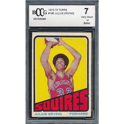 1972-73 Topps #195 Julius Erving RC (BCCG 7)