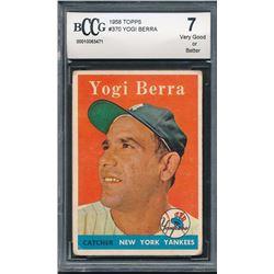 1958 Topps #370 Yogi Berra (BCCG 7)