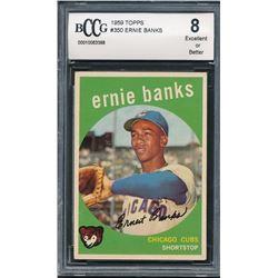 1959 Topps #350 Ernie Banks (BCCG 8)