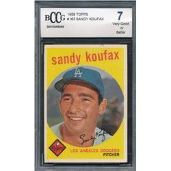 1959 Topps #163 Sandy Koufax (BCCG 7)
