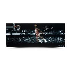"Michael Jordan Signed Bulls ""1988 NBA Slam Dunk Contest"" 12x30 Limited Edition Photo (UDA)"
