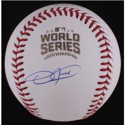 Dexter Fowler Signed Official 2016 World Series Baseball (Schwartz COA  Beckett Hologram)