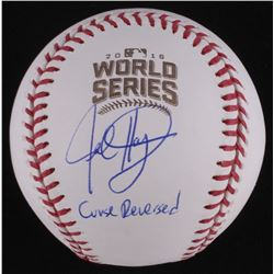 """Jed Hoyer Signed Official 2016 World Series Baseball Inscribed """"Curse Reversed"""" (Schwartz COA)"""