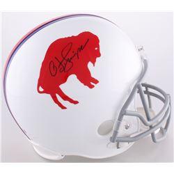 O.J. Simpson Signed LE Bills Throwback Full-Size Helmet (JSA COA  Official O.J. Simpson Hologram)