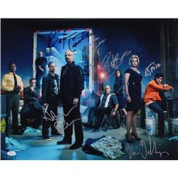 """""""Breaking Bad"""" 16x20 Photo Signed By (6) With Bryan Cranston, Aaron Paul, RJ Mitte, Betsy Brandt (JS"""