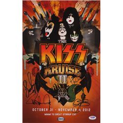 """""""KISS"""" 11x17 Photo Signed by (4) with Paul Stanley, Gene Simmons, Eric Singer  Tommy Thayer (PSA LOA"""