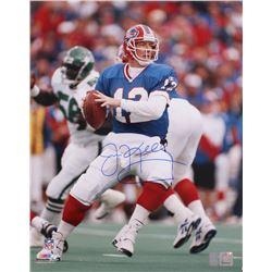 Jim Kelly Signed Bills 16x20 Photo (Kelly Hologram)