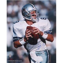 Troy Aikman Signed Cowboys 16x20 Photo (Aikman Hologram)