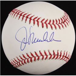 Joe Maddon Signed 2015 Postseason Baseball  (Schwartz COA)