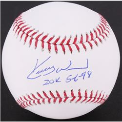 "Kerry Wood Signed OML Baseball Inscribed ""20 K 5-6-98"" (Schwartz COA)"