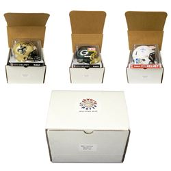 Schwartz Sports Football Superstar Signed Mystery Box Mini Helmet Series 2
