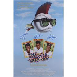 "Charlie Sheen, Tom Berenger  Corbin Bernsen Signed ""Major League"" 24x36 Movie Poster Inscribed ""Dorn"