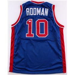 Dennis Rodman Signed Pistons Jersey (JSA COA)