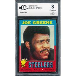 1971 Topps #245 Joe Greene RC (BCCG 8)