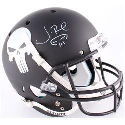 Jon Bernthal Signed Custom Matte Black  Punisher  Full-Size Helmet with Original Scull Sketch (Radtk
