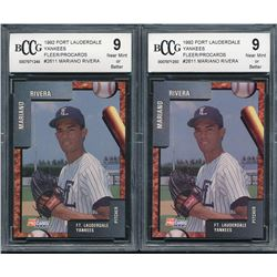 Lot of (2) 1992 Fort Lauderdale Yankees Fleer/ProCards #2611 Mariano Rivera (BCCG 9)