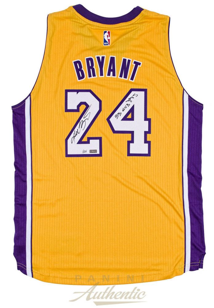 new products 201aa b3e19 Kobe Bryant Signed Limited Edition Lakers Adidas Authentic ...