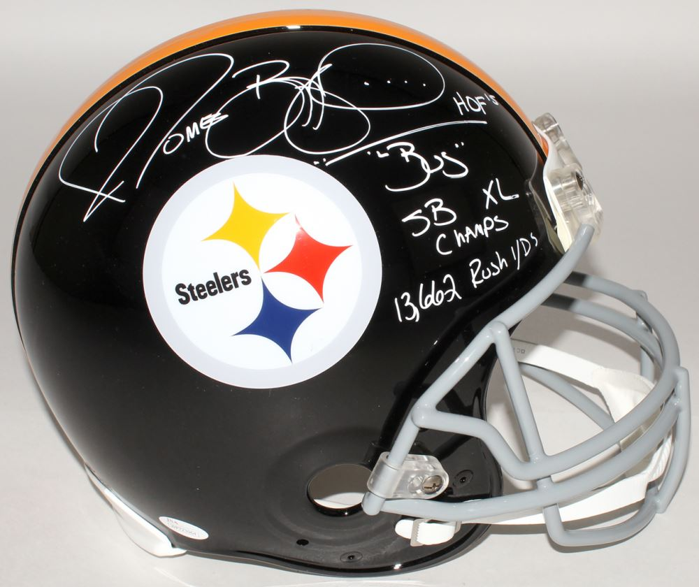 fe48a0e7b64 Image 1 : Jerome Bettis Signed Steelers Full-Size Authentic On-Field Helmet  Inscribed