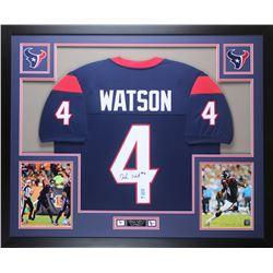 f69d35d8282 Deshaun Watson Signed Texans 35x43 Custom Framed Jersey ...