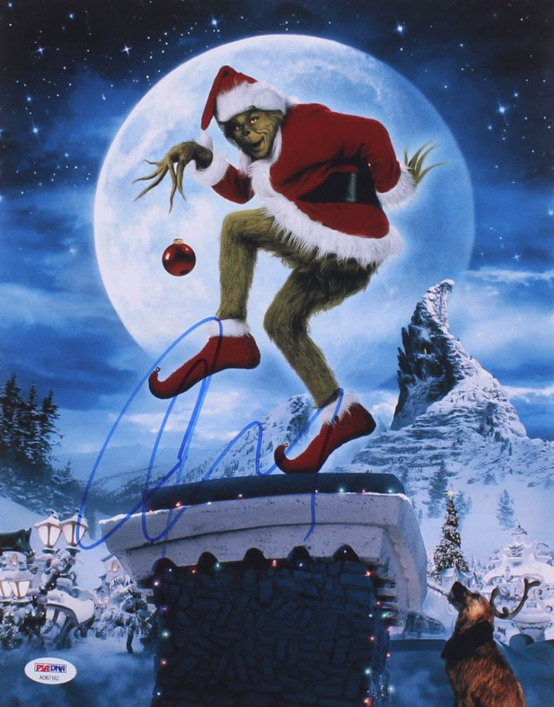 How The Grinch Stole Christmas Jim Carrey.Jim Carrey Signed Dr Seuss How The Grinch Stole Christmas