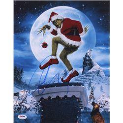 "Jim Carrey  Signed ""Dr. Seuss' How the Grinch Stole Christmas"" 11x14 Photo (PSA COA)"