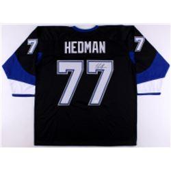 Victor Hedman Signed Lightning Jersey (JSA COA)