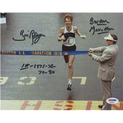 "Bill Rodgers Signed 8x10 Photo Inscribed ""Boston Marathon""  ""1st 1975-78-79-80"" (PSA COA)"