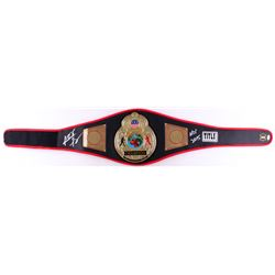"Riddick Bowe Signed Title Boxing Champion Replica Belt Inscribed ""HOF 2015"" (JSA COA)"