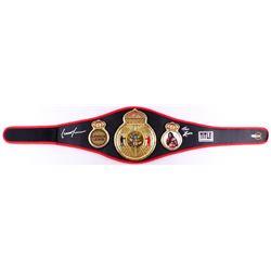 "Lennox Lewis Signed Title Boxing Champion Replica Belt Inscribed ""The Lion"" (JSA COA)"