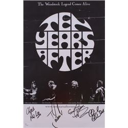 """""""Ten Years After"""" 11x17 Poster Signed by (4) with Ric Lee, Joe Gooch, Leo Lyons  Chick Churchill (JS"""